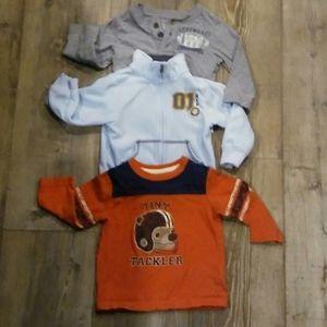 Bundle 3 long sleave 12month toddler shirts sport